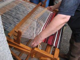 Prikaz tkanja na statvah